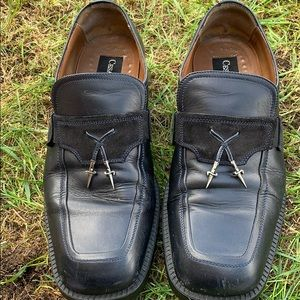 Cesare Paciotti Italy genuine leather loafer shoes